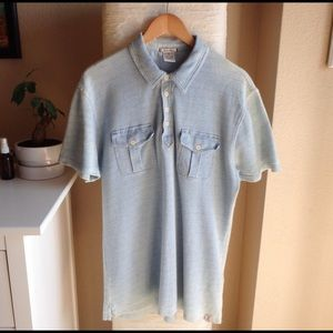 Lucky Brand Polo Shirt in Light Indigo